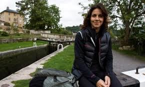 Julie Bradbury walking the canals